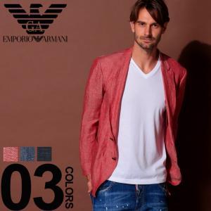 エンポリオ アルマーニ EMPORIO ARMANI ジャケット リネン 麻100% 麻ジャケット メンズ EAW1G27SW1S29|zen