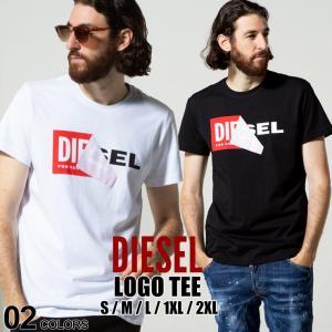 ディーゼル DIESEL Tシャツ 半袖 ボックスロゴ めくりデザイン プリント ブランド メンズ DSS02X091B Tshirts