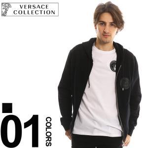 ヴェルサーチ コレクション VERSACE COLLECTION パーカー スウェット ロゴ フルジップ メンズ ブランド ジップアップ VCV80698AVJ0358 zen