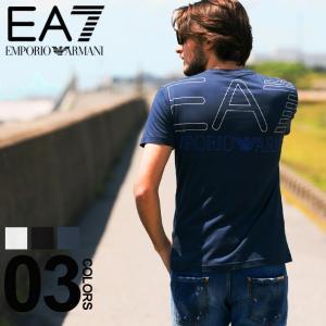 エンポリオ アルマーニ EMPORIO ARMANI EA7 Tシャツ 半袖 バック ロゴ プリント クルーネック ブランド メンズ トップス EA3GPT05PJ02Z|zen