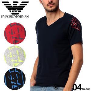 エンポリオ アルマーニ EMPORIO ARMANI サイドマーク Vネック 半袖 アンダーTシャツ ブランド メンズ トップス シャツ インナー ストレッチ EA1117609P725|zen