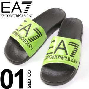 エンポリオ アルマーニ EMPORIO ARMANI EA7 サンダル ロゴ ネオンカラー 蛍光 スライドサンダル ブランド メンズ シャワーサンダル EAXCP001XCC22|zen