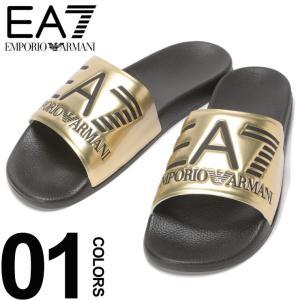 エンポリオ アルマーニ EA7 EMPORIO ARMANI サンダル スライドサンダル ゴールド EAXCP001XCC22|zen
