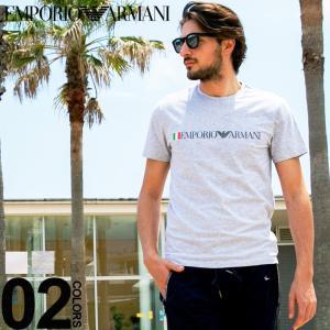 エンポリオ アルマーニ EMPORIO ARMANI Tシャツ 半袖 ロゴ プリント クルーネック イタリア ブランド メンズ トップス EA1108539P510|zen