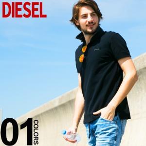 ディーゼル DIESEL ポロシャツ 半袖 クレリック ダメージデニム 鹿の子 ブランド メンズ トップス コットン ロゴ DSSHYBPASJ zen