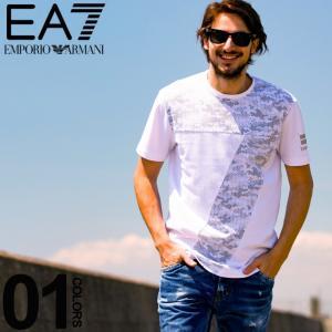 エンポリオ アルマーニ EA7 EMPORIO ARMANI Tシャツ 半袖 BIG7 カモフラ クルーネック ブランド メンズ トップス ロゴ プリント EA3GPT29PJ04Z|zen