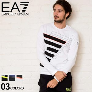 エンポリオ アルマーニ EA7 EMPORIO ARMANI Tシャツ 長袖 ロンT ロゴ プリント クルーネック ブランド メンズ トップス カットソー ストレッチ EA6GPT63PJP6Z|zen