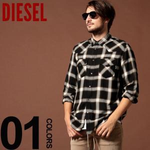 ディーゼル DIESEL シャツ 長袖 チェック ウエスタンシャツ ブランド メンズ トップス DSSZ0EAAVZ|zen