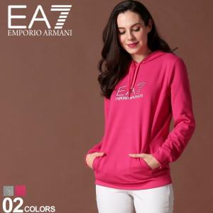 エンポリオ アルマーニ EA7 レディース EMPORIO ARMANI パーカー スウェット ロゴ プリント ラインストーン ブランド トップス EAL6GTM03TJ27Z zen