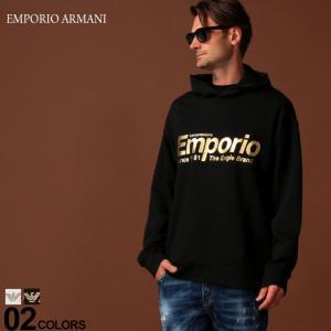 エンポリオ アルマーニ EMPORIO ARMANI パーカー スウェット ゴールド ロゴ プルオーバー ブランド メンズ トップス プルパーカー スエット EA6G1MF81J07Z|zen
