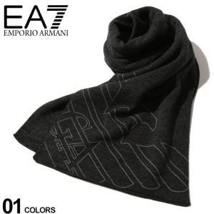エンポリオ アルマーニ EA7 EMPORIO ARMANI マフラー イーグル ロゴ ブランド メンズ ニット プリント EA2758048A302|zen