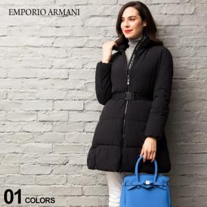 エンポリオ アルマーニ EMPORIO ARMANI 中綿 コート ウエストベルト ストレッチ ナイロン ブランド レディース アウター ハーフ丈 EAL6G2L682NUHZ zen