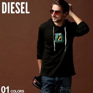 ディーゼル DIESEL Tシャツ 長袖 ロゴ プリント パーカー ロンT ブランド メンズ トップス カットソー DSSCW4WAVV|zen