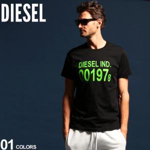 ディーゼル メンズ Tシャツ DIESEL 半袖 プリント クルーネック ブランド トップス カットソー プリントT ロゴT DSSASAAAXJ|zen