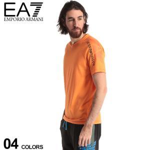 エンポリオ アルマーニ メンズ Tシャツ EMPORIO ARMANI ロゴ プリント Vネック 半袖 肩プリント ブランド トップス プリントT EA3HPT30PJJ6Z|zen