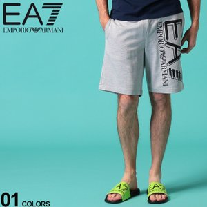 エンポリオ アルマーニ メンズ ショートパンツ スウェット EMPORIO ARMANI EA7 ロゴ プリント スエット ショーツ ブランド ボトムス ハーフパンツ EA3HPS59PJ05Z|zen