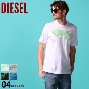 ディーゼル メンズ Tシャツ 半袖 DIESEL ロゴ ポップ プリント クルーネック ブランド トップス プリントT ロゴT DSSEG2091A|zen