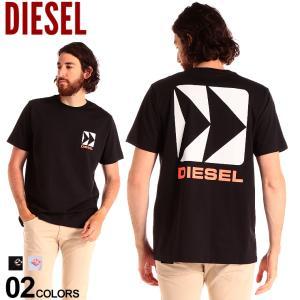 ディーゼル メンズ Tシャツ 半袖 DIESEL ロゴ バックプリント クルーネック ブランド トップス プリントT コットン DSST5IQAZL|zen