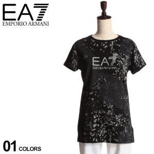 エンポリオ アルマーニ EMPORIO ARMANI EA7 メタリック ロゴ クルーネック 半袖 Tシャツ ブランド レディース トップス プリントT EAL3HTT17TJ12Z zen