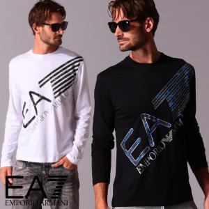 エンポリオ アルマーニ メンズ Tシャツ 長袖 EMPORIO ARMANI EA7 迷彩 ロゴ プリント ブランド トップス ロンT カットソー カモフラージュ EA6HPT37PJ7CZ zen