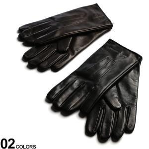 エンポリオアルマーニ メンズ 手袋 EMPORIO ARMANI レザー 裏起毛 グローブ ブランド レザーグローブ 革手袋 EA624139CC203|zen