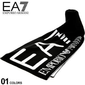エンポリオアルマーニ マフラー EMPORIO ARMANI EA7 メンズ ロゴ ニット ブランド EA2758949A301|zen