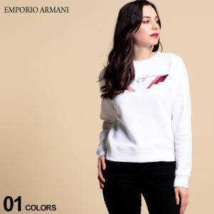 エンポリオ アルマーニ レディース トレーナー EMPORIO ARMANI 裏起毛 イーグル ロゴ 刺繍 クルーネック スウェット ブランド トップス スエット EAL6H2M7U2JPDZ zen