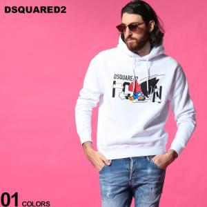 ディースクエアード メンズ パーカー DSQUARED2 ICON ロゴ スーパーマン プルオーバー スウェット ブランド トップス スエット D2GU0025S25042|zen