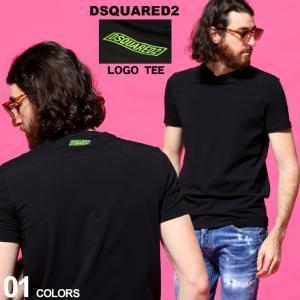ディースクエアード メンズ Tシャツ DSQUARED2 ロゴ バックプリント クルーネック 半袖 ブランド トップス コットン ストレッチ D2D9M203470|zen