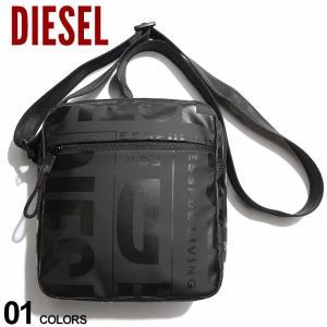 DIESEL ディーゼル ランダムロゴ ダブル クロスボディバッグ ブランド メンズ バッグ 鞄 ボディバッグ ショルダーバッグ DSX07797P3893|zen