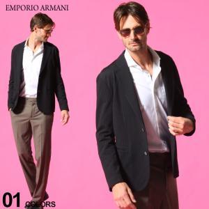 エンポリオアルマーニ メンズ ジャケット EMPORIO ARMANI シアサッカー シングル 2ツ釦 ブランド  テーラード EAA1G870A1440 zen