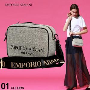 エンポリオアルマーニ レディース バッグ EMPORIO ARMANI ロゴ キャンバス ショルダーバッグ ブランド クロスボディバッグ 鞄 ロゴストラップ EALY3B163Y266A|zen