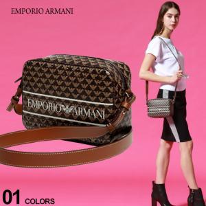 エンポリオアルマーニ レディース バッグ EMPORIO ARMANI モノグラム ロゴ 総柄 ショルダーバッグ クロスボディバッグ ブランド 鞄 EALY3B162Y265E|zen