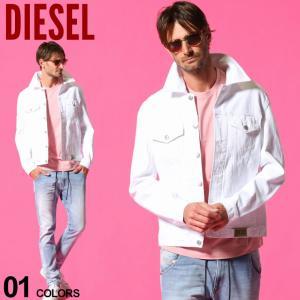 ディーゼル メンズ デニムジャケット DIESEL ポケット ホワイトデニム ブルゾン ブランド  アウター Gジャン ホワイトデニム DSA02126ABBK zen