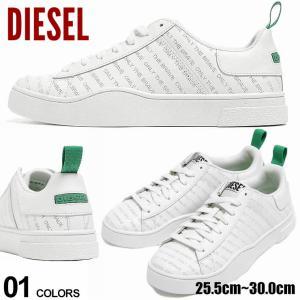 ディーゼル メンズ DIESEL ロゴ 総柄 ローカットスニーカー S-CLEVER LOW LACE ブランド シューズ 靴 スニーカー ロゴ レザー ローカット DSY02045P0968 zen