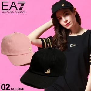 エンポリオアルマーニ EA7 レディース EMPORIO ARMANI キャンバス イーグル ロゴ キャップ ブランド 帽子 コットン EAL2855591P101|zen