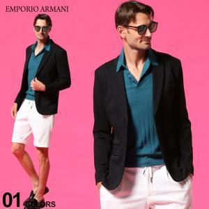 エンポリオアルマーニ メンズ EMPORIO ARMANI ジャケット シングル コットン ストレッチ ジャージー 2ボタン ブランド 黒 EA3K1G831JYSZ zen