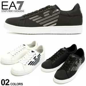 エンポリオアルマーニ EA7 メンズ EMPORIO ARMANI キャンバス ロゴ ローカットスニーカー ブランド シューズ 靴 ロゴ EAX8X001XK124 zen