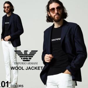 エンポリオアルマーニ メンズ EMPORIO ARMANI ウール100% シングル 2ツ釦 ジャケット ブランド アウター ジャケット テーラード EAB1G440B1432|zen