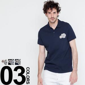 モンクレール MONCLER ポロシャツ 半袖 ワッペン ブランド メンズ MC830420084556|zen