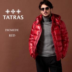 タトラス TATRAS ダウンジャケット ナイロン パーカー フード ブルゾン DIOMEDE ディオメデ ブランド メンズ アウター 赤 TRMTA20A4563|zen