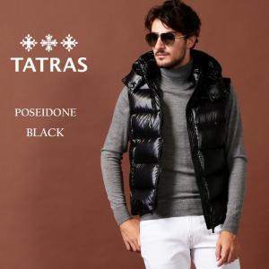 タトラス TATRAS ダウンベスト ナイロン パーカー フード POSEIDONE ポセイドーネ ブランド メンズ アウター TRMTA20A4564|zen