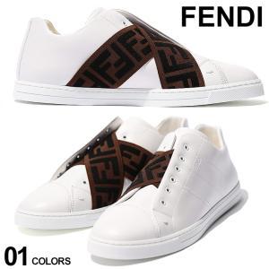 FENDI (フェンディ) レザー FFロゴ クロスストラップ スリッポン FD7E1198A5JP|zen