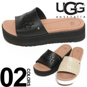 アグ UGG  レザー ロゴ入り サンダル DELANEY UGGL1016657 レディース|zen