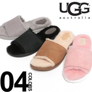 アグ UGG  スエード ロゴ ムートンサンダル BREEZY UGGL1017019 レディース|zen