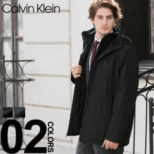カルバンクライン Calvin Klein CK フェイクレイヤード フード ブルゾン アウター 【CKCM701073】 メンズ ブランド ビジネス|zen