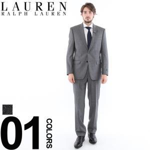 ローレン ラルフ ローレン LAUREN RALPH LAUREN スーツ ウール ウルトラフレックス シングル 2つ釦 2B メンズ 紳士 ビジネス ノータック RL1RZ2365S8 ブランド|zen