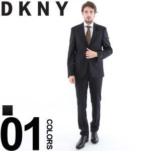 DKNY ダナキャランニューヨーク スーツ ウール ピンストライプ アップタウン シングル 2ツボタン 2B メンズ 紳士 ビジネス ノータック DK12Y1262S8 ブランド|zen