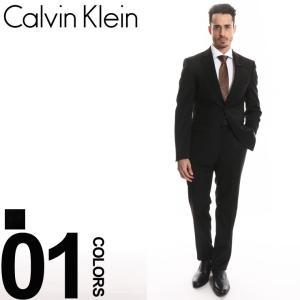 カルバンクライン Calvin Klein スーツ ウール ストライプ シングル 2B extreme slim fit ブランド メンズ 紳士 2ツ釦 ノータック CKMBYR25FYL098|zen