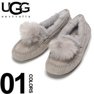 アグ オーストラリア UGG Australia ムートンシューズ スエード ポンポン ダコタ モカシン DAKOTA POM POM ブランド レディース シューズ 靴 リボン UGGL1019015|zen